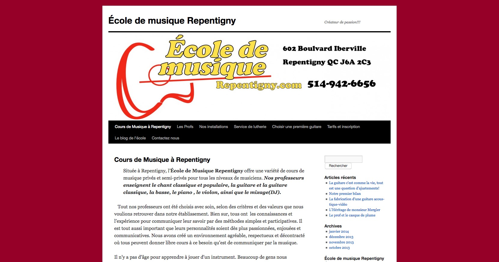 École de musique Repentigny