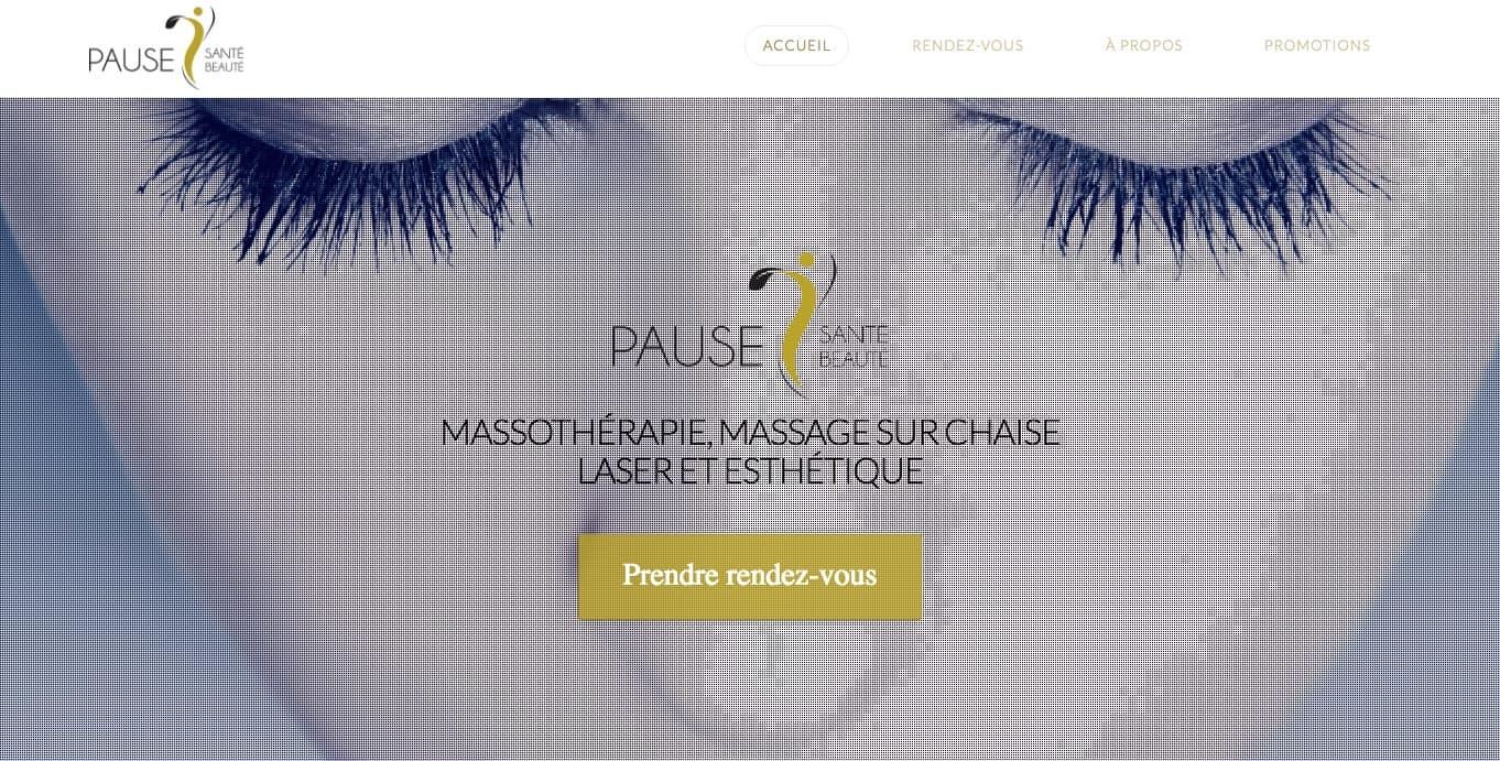 client conception web repentigny - Pause Santé Beauté