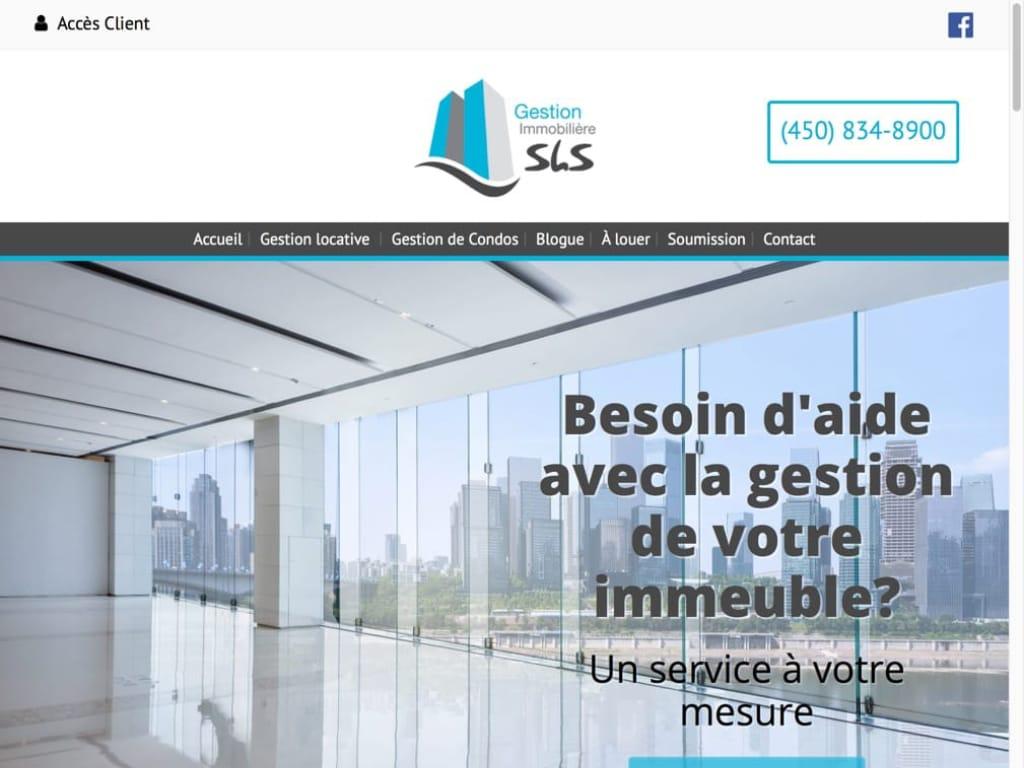 Conception site Web - Gestion Immobilière SLS