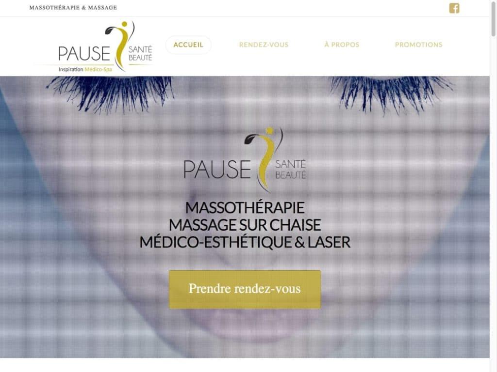 Conception site Web - Pause Santé Beauté