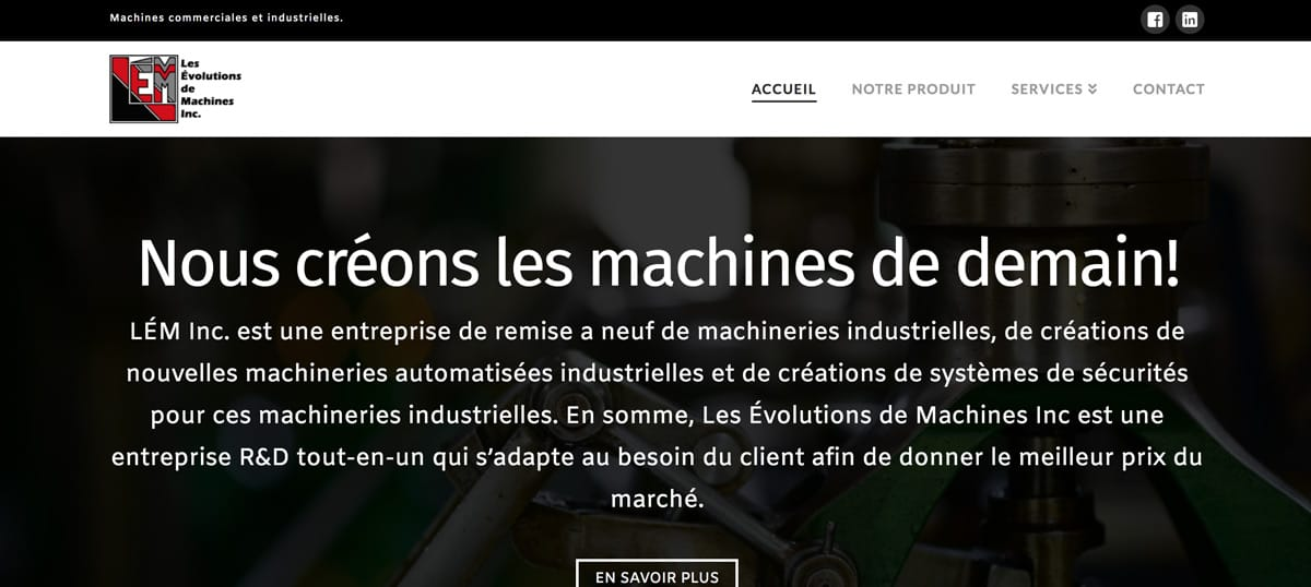 Conception site Web - Évolution de Machine